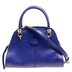 Tod's blaue Kleine Leder Sella Bowling Tasche
