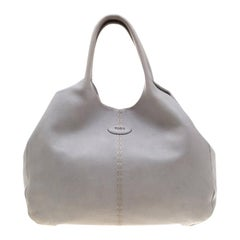 Tod's Blue Pebbled Leather Hobo