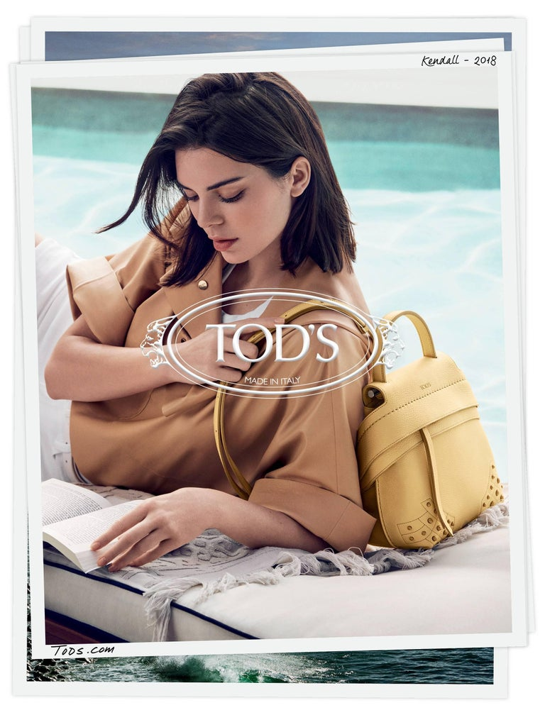 Brown Tod's Bronze Small Wave Gommini Top Handle Bag with Strap rt. $2,165 For Sale