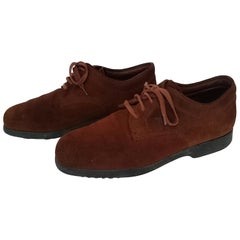 Tod's Brown Laced Suede Stringed Shoes. Excellent conditions. Size 8 (UK)