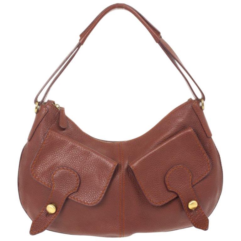 04b7eb4922256e Tod's Brown Leather Benji Sacca Hobo For Sale at 1stdibs