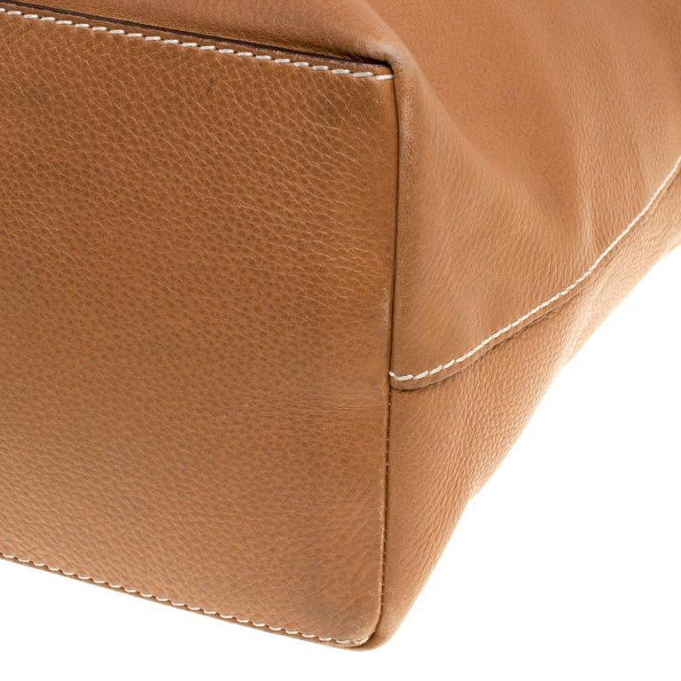 Tod's Brown Leather Grande Shopping Tote For Sale 7