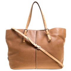 Tod's Brown Leather Grande Shopping Tote
