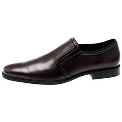 Tod's Brown Leather Loafers Size 44
