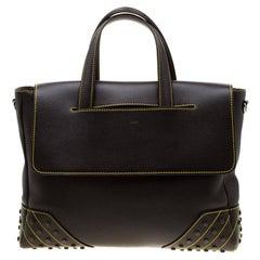 Tod's Dark Brown Leather Envelope Bag