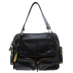 Tod's Dark Brown Leather T Bag Media Satchel