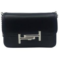 Tod's Double T Black Cross Body Leather Ladies Bag XBWAMUb1100RLX-B999