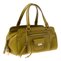Tod's Green Leather Kate Easy Media Giorno Satchel