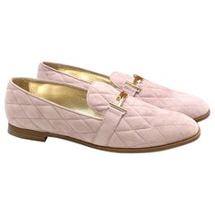 Tod's Lavender Quilted Suede Loafers 41