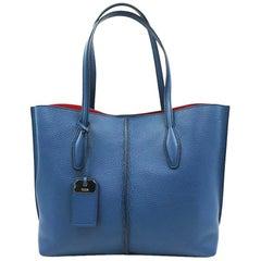 Tod's Leather Shoulder Blue Ladies Bag XBWAMFAV300
