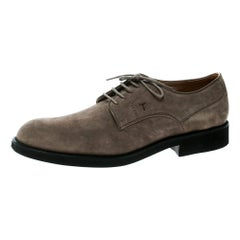 Tod's Light Brown Suede Lace Up Oxfords Size 47