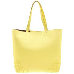 Tod's Light Yellow Leather Medium Wave Tote
