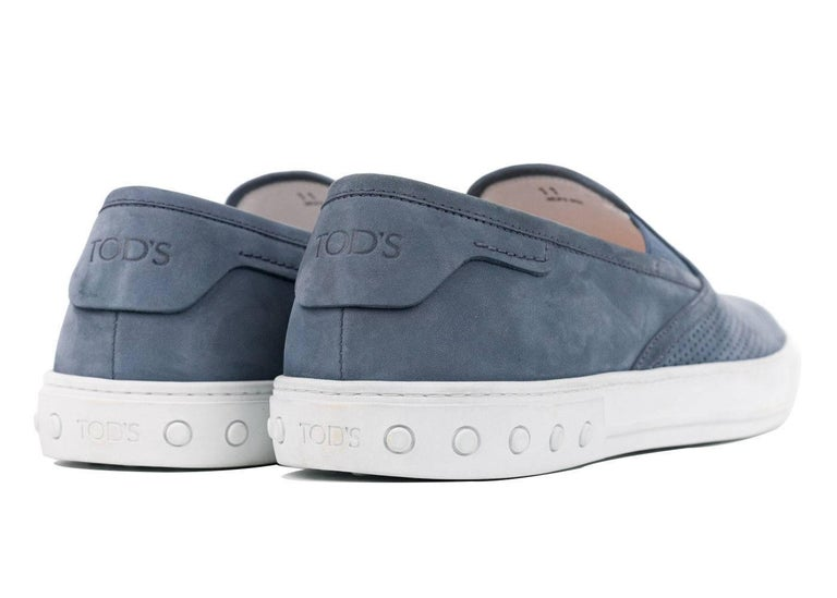 Tod's sneakers are a sterling choice for off-duty days. Designed in a sporty slip-on silhouette, this versatile pair has been meticulously crafted in Italy from the softest perforated nubuck and is finished with smooth leather linings to ensure the