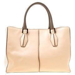Tod's Multicolor Leather Shopper Top Handle Bag