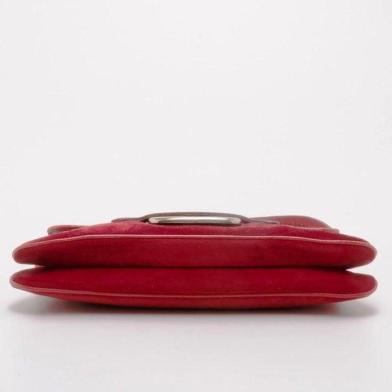 2e06f8ba36 Women's or Men's Tod's Red Suede Shoulder Bag For Sale