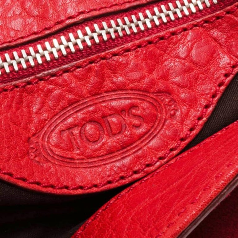 866f590121 Tod's Red Suede Shoulder Bag For Sale at 1stdibs