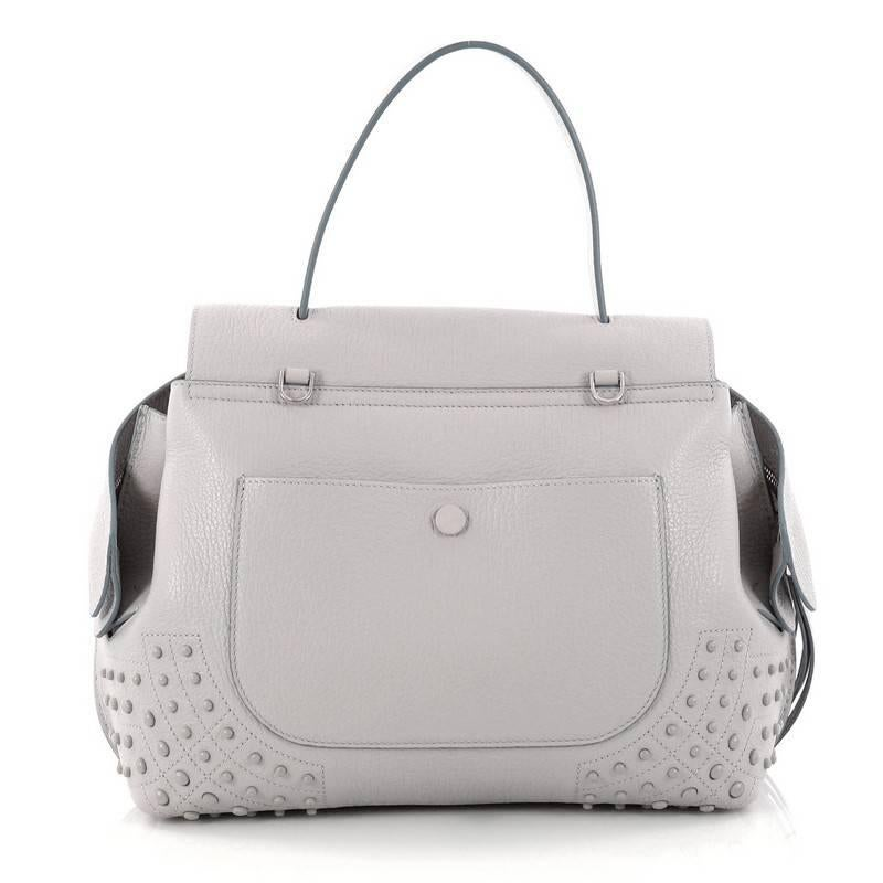 Tod's Studded Convertible Wave Charm Bag Leather O9iys