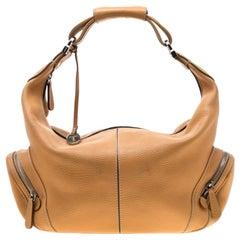 Tod's Tan Leather Charlotte Hobo