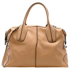 Tods Tan Leather D-Styling Tote Bag