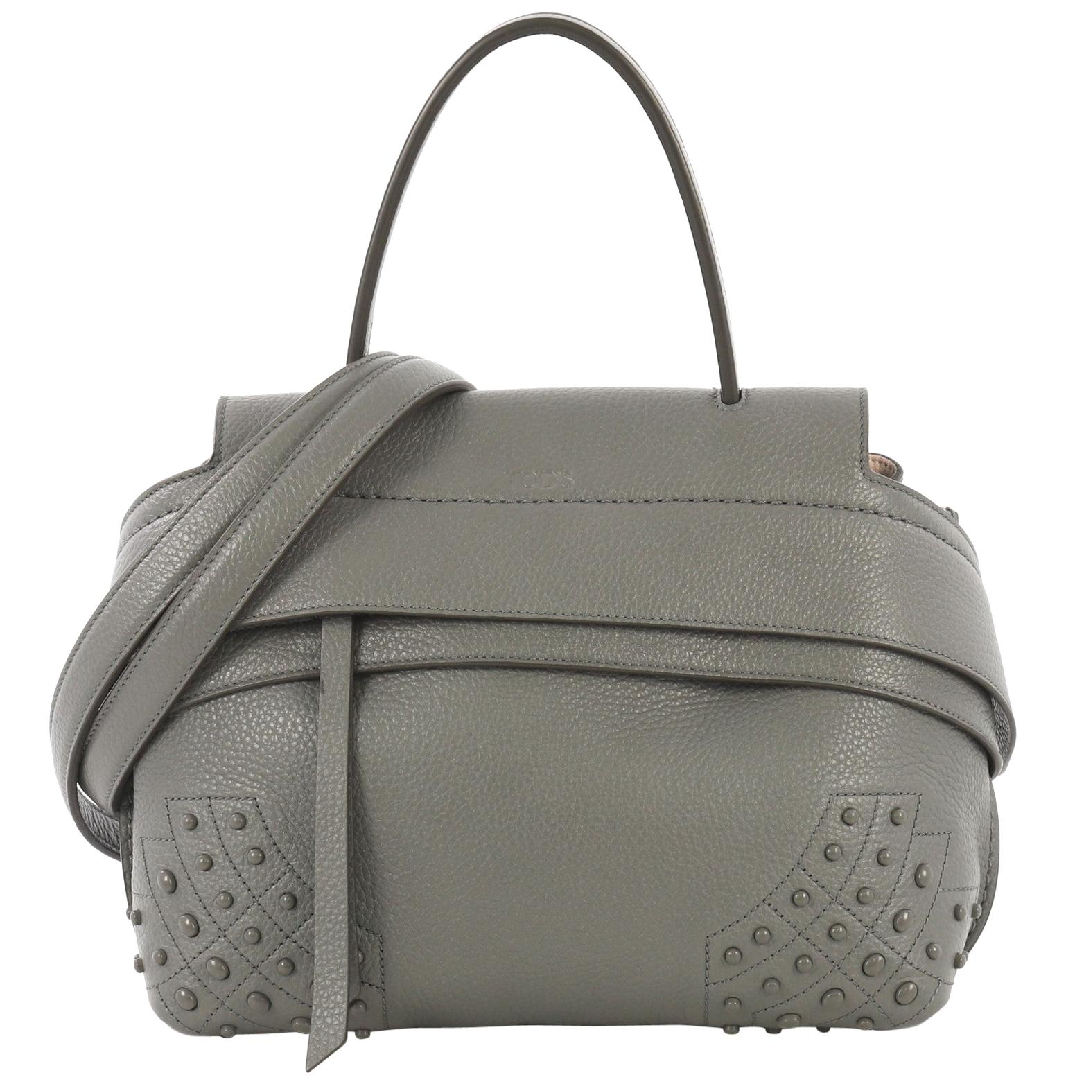 b3edc45d5f Tod's Dark Brown Leather T Bag Media Satchel For Sale at 1stdibs