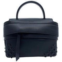 Tod's Wave Micro Gommini Black Leather Ladies Satchel Bag XBWAMRWD001MTI-B999