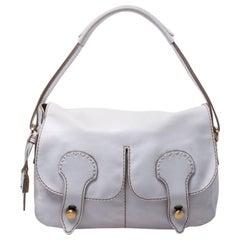 Tod's White Leather Flap Shoulder Bag
