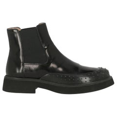 Tod'S Woman Ankle boots Black Leather IT 41.5