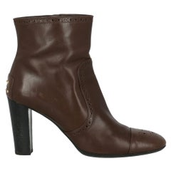 Tod'S Woman Ankle boots Brown Leather IT 41.5