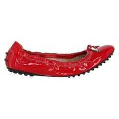 Tod'S Woman Ballet flats Red Leather IT 36.5