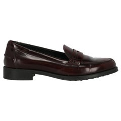 Tod'S Woman Loafers Burgundy Leather IT 37.5