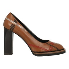 Tod'S Woman Pumps Brown Leather IT 39.5