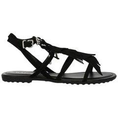 Tod'S Woman Sandals Black EU 35
