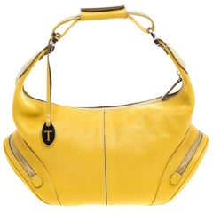 Tod's Yellow Leather Charlotte Hobo