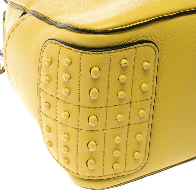 9853074c4374 Tod s Yellow Leather Mini Nuovo Miky Top Handle Bag For Sale at 1stdibs