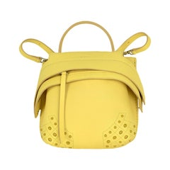 Tod's Yellow Leather Wave Convertible Mini Backpack Bag