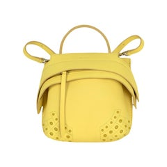 Tod's Yellow Wave Leather Convertible Mini Backpack Bag