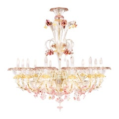 Semi Rezzonico Chandelier 12arms Crystal Glass multicolour Details by Multiforme