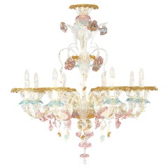 Artistic Murano Rezzonico Chandelier 8 arms Glass multicolour by Multiforme