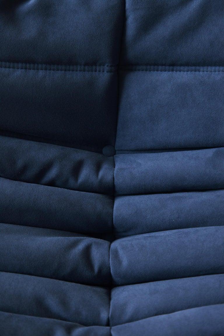 Togo 2-Seat Sofa in Dark Blue Microfibre by Michel Ducaroy for Ligne Roset For Sale 4
