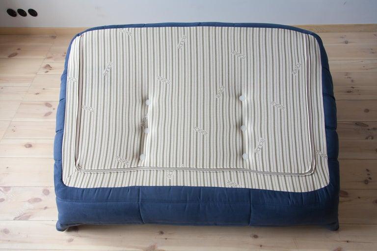 Togo 2-Seat Sofa in Dark Blue Microfibre by Michel Ducaroy for Ligne Roset For Sale 6