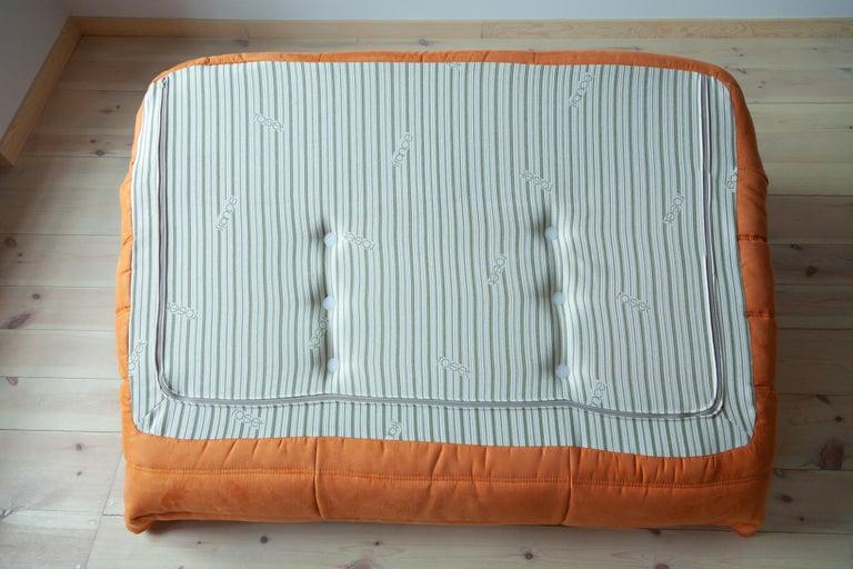 Togo 2-Seat Sofa in Orange Microfibre by Michel Ducaroy for Ligne Roset For Sale 9