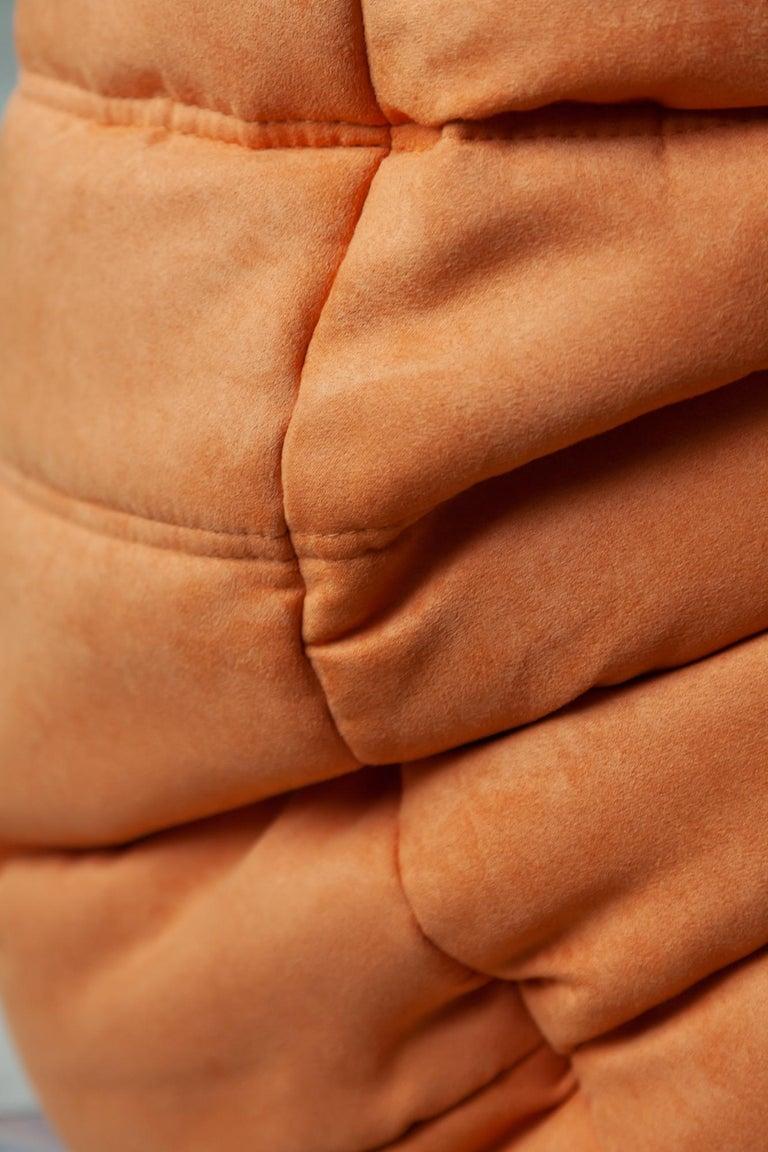 Togo 2-Seat Sofa in Orange Microfibre by Michel Ducaroy for Ligne Roset For Sale 6