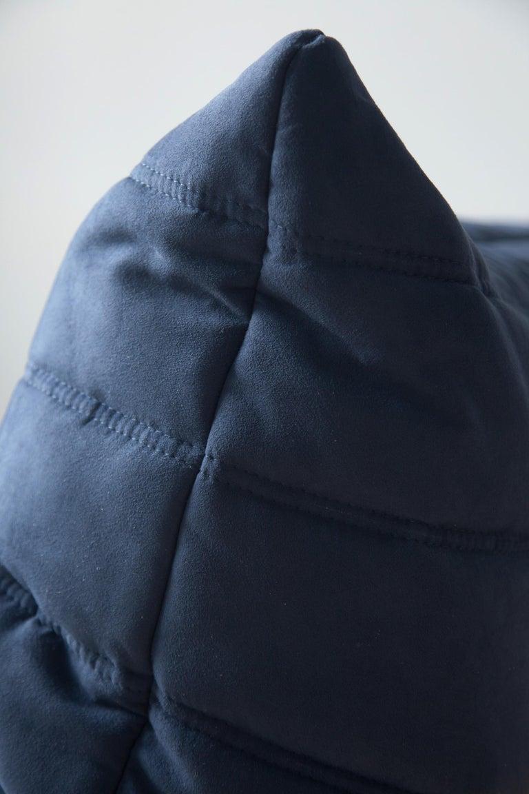 Togo 3-Seat Sofa in Dark Blue Microfibre by Michel Ducaroy for Ligne Roset For Sale 5
