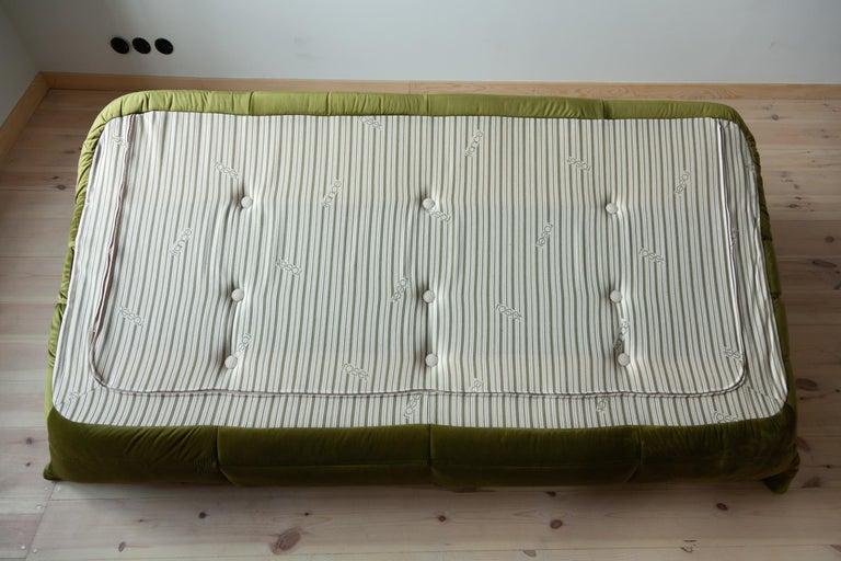 Togo 3-Seat Sofa in Green Velvet by Michel Ducaroy for Ligne Roset For Sale 9