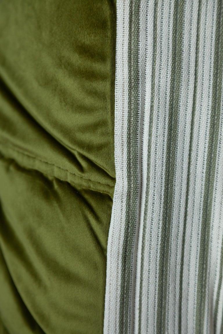 Togo 3-Seat Sofa in Green Velvet by Michel Ducaroy for Ligne Roset For Sale 10