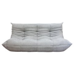 Togo 3-Seat Sofa in Light Grey Microfibre by Michel Ducaroy for Ligne Roset