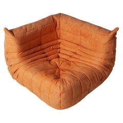 Togo Corner Couch in Orange Microfibre by Michel Ducaroy by Ligne Roset