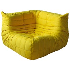 Togo Corner Couch in Yellow Microfibre by Michel Ducaroy by Ligne Roset