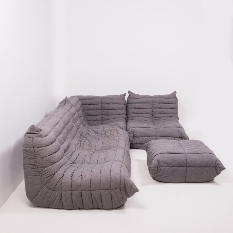 The iconic Togo sofa, originally designed by Michael Ducaroy for Ligne Roset in 1973, has become a design classic.  This four-piece modular set is incredibly versatile and can be configured into one large corner sofa or split for a multitude of