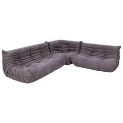 Togo Grey Modular Sofa by Michel Ducaroy for Ligne Roset, Set of 3